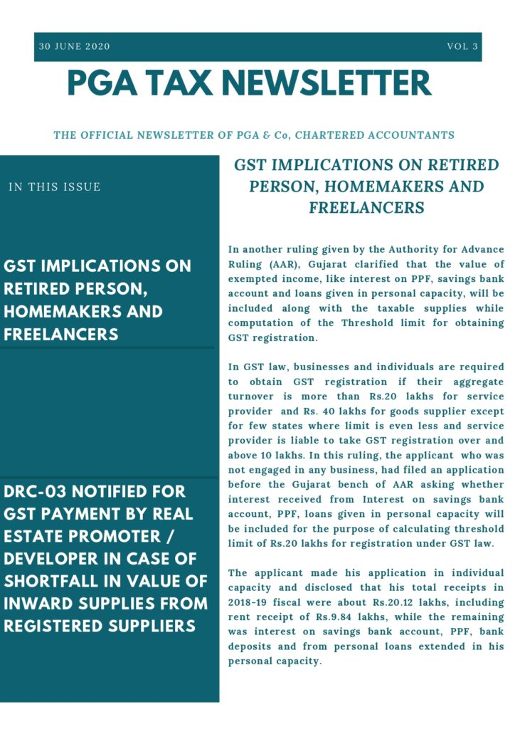 GST implications on freelancers, homemakers & retired persons